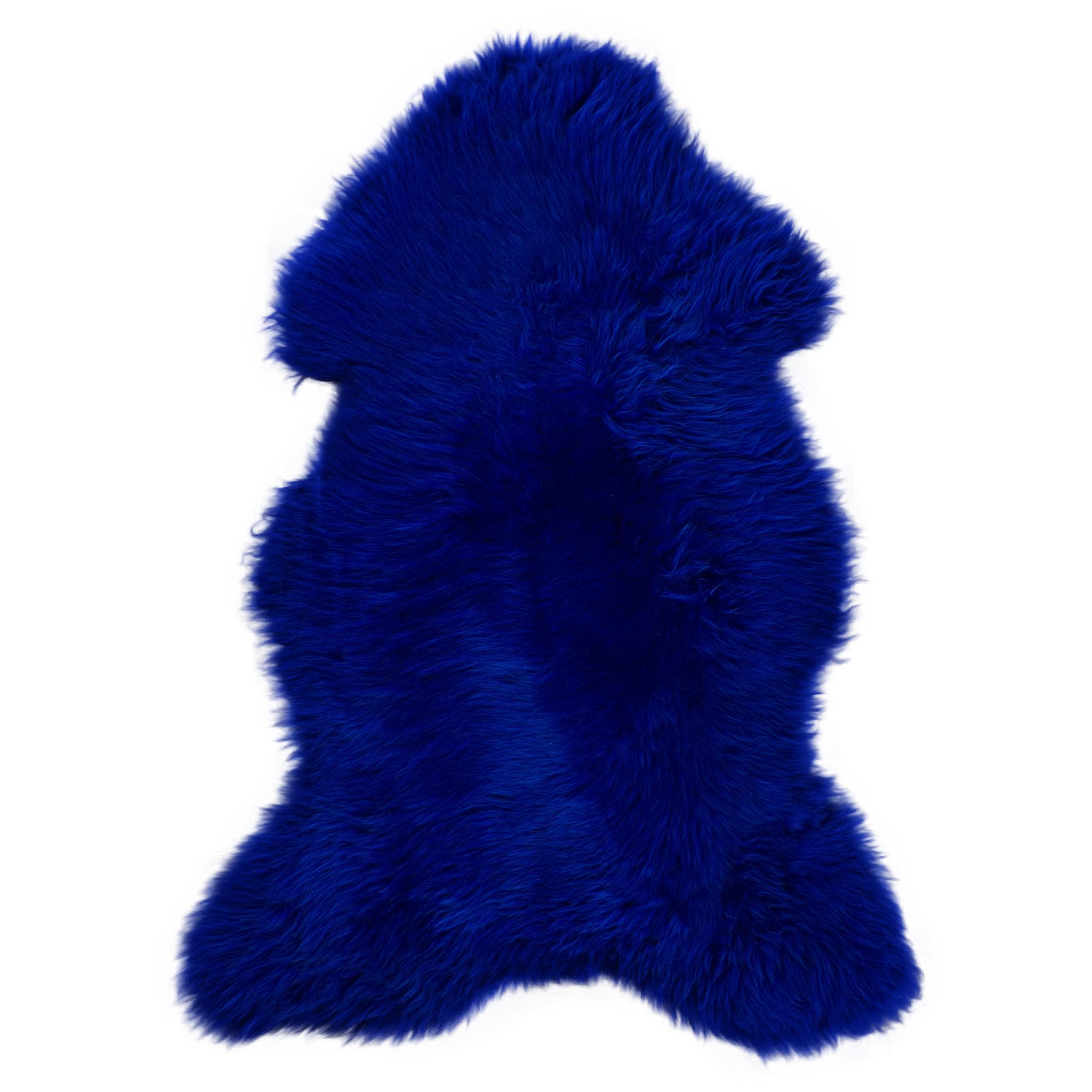 Van Buren Texels schapenvacht Kobalt Blauw
