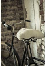 Van Buren Zadeldekje voor de fiets van schapenvacht