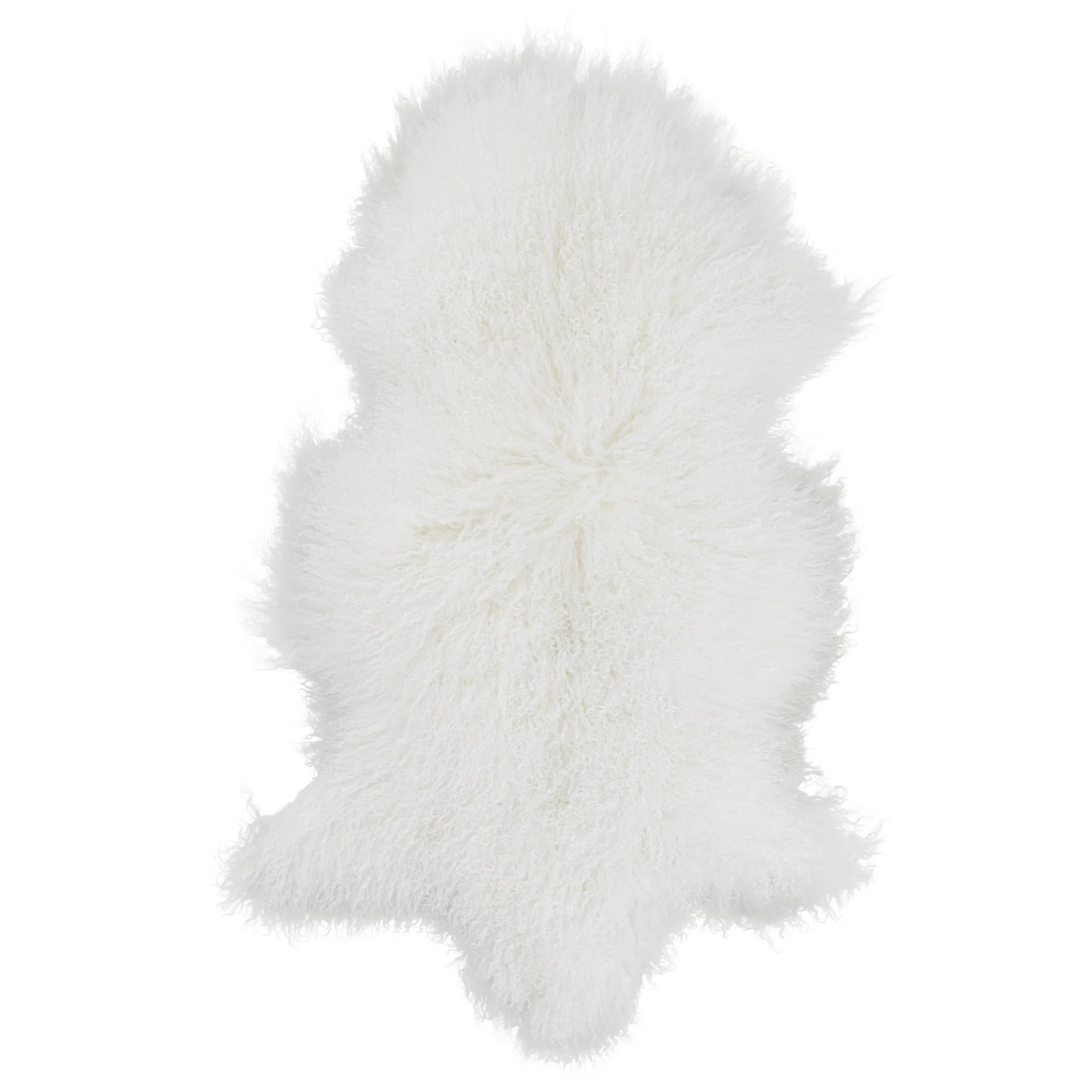 testVan Buren Schapenvacht wit Tibetaans met gekrulde lange haren