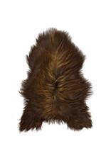 Van Buren Schapenvacht natuurlijk bruin IJslands met extra lange haren