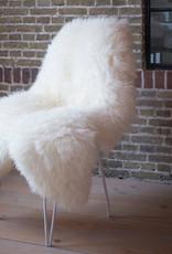 Van Buren Witte naturel schapenvacht in 4 verschillende Afmetingen