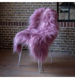 Van Buren IJslands schapenvacht - Donker roze