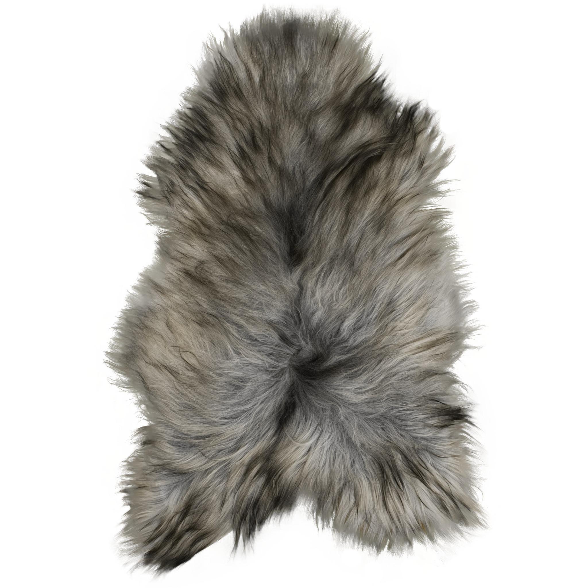 Van Buren IJslands schapenvacht - Natuurlijk grijs