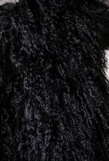 Van Buren Zwart gekruld Tibet schapenvacht