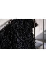 Van Buren Schapenvacht zwart Tibetaans met gekrulde lange haren
