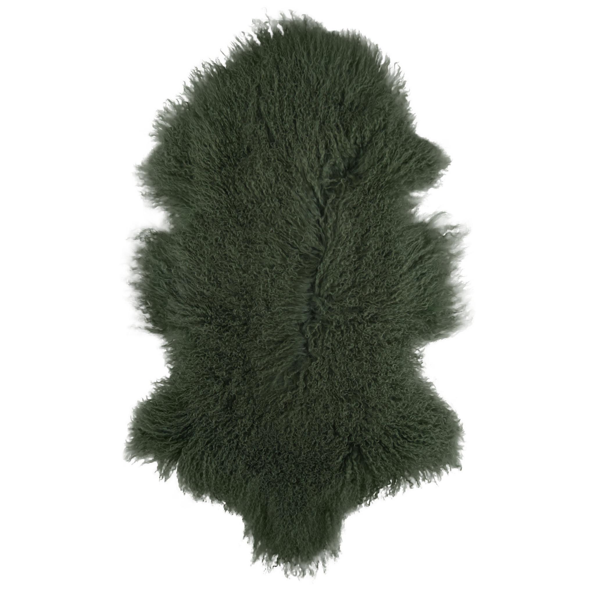 Van Buren Gras groen gekruld Tibet schapenvacht
