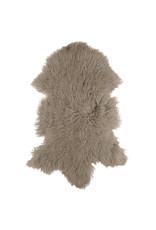 Van Buren Schapenvacht zand Tibetaans met gekrulde lange haren