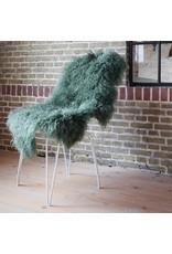 Van Buren Schapenvacht gras groen Tibetaans met gekrulde lange haren