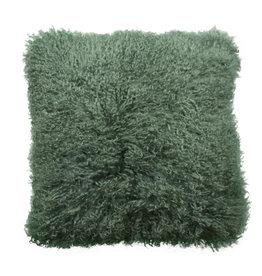 Van Buren Tibet Schapenvacht Kussen - Gras groen - 45x45cm