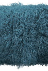 Van Buren Zacht turquoise kussen van Tibet lamsvacht