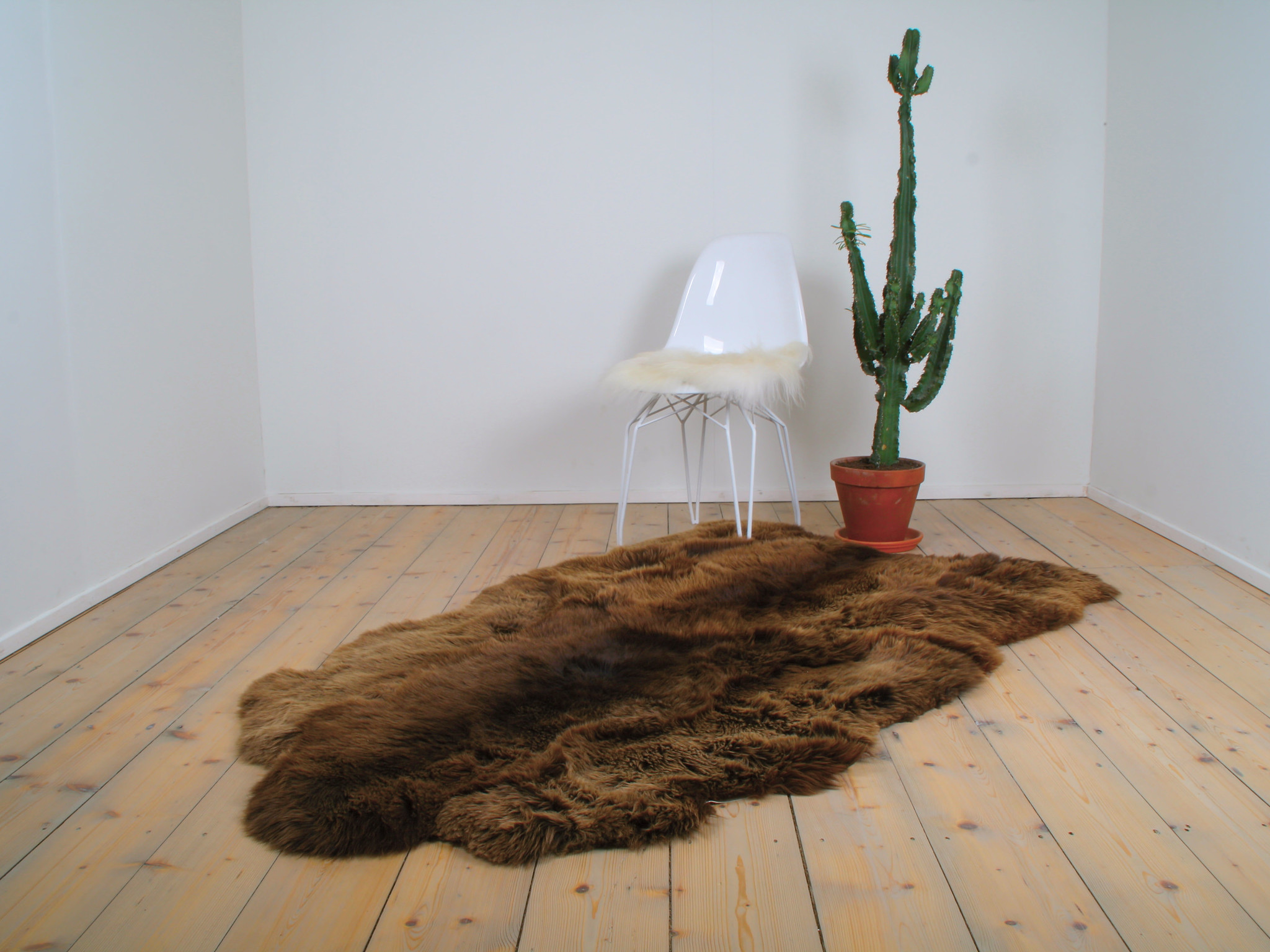 testVan Buren Schapenvacht vloerkleed XXXL - Bruin | 180 x 150 cm