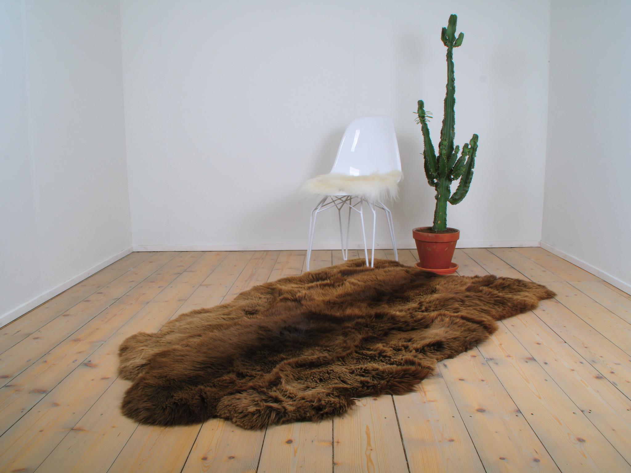 Van Buren Schapenvacht XXXL - Bruin | 180x150 cm