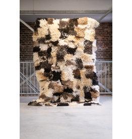 Van Buren Schapenvacht vloerkleed - Krulvacht vloerkleed   220x150 cm