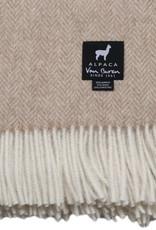 Van Buren Alpaca plaid - Visgraat zand