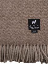Van Buren Alpaca plaid - Visgraat donker beige
