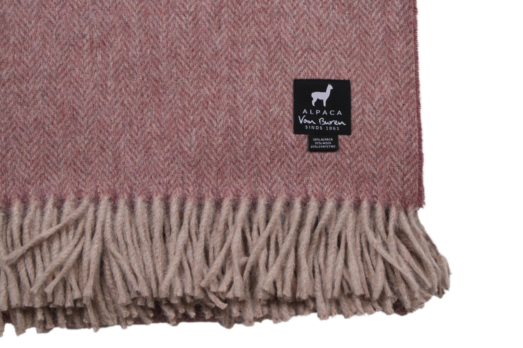 Van Buren Alpaca plaid - Visgraat roze