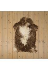 Van Buren Krul Schapenvacht - Melange - Uniek Gefotografeerd - ca. 100x60cm - US033