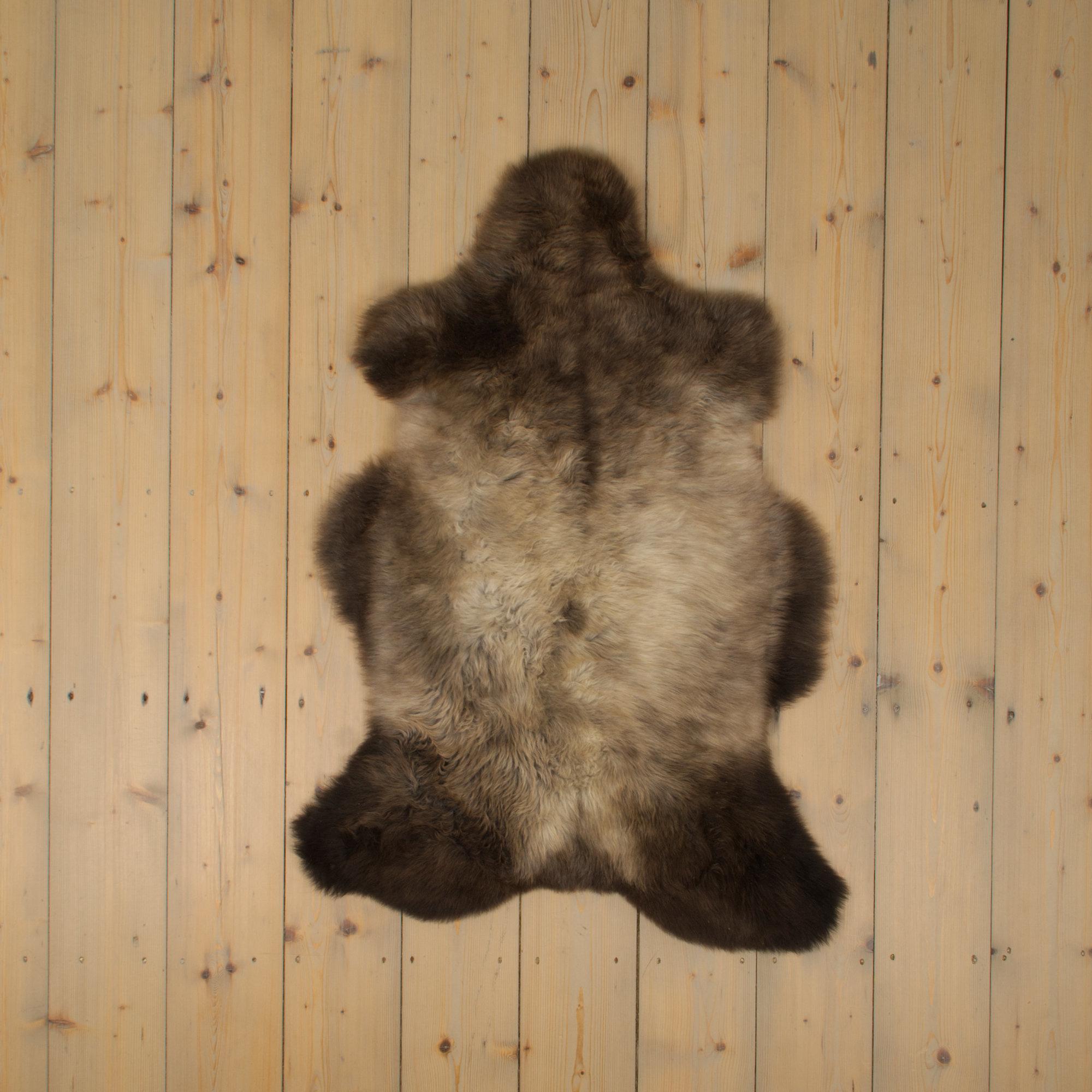 Van Buren Blauwe Texelaar Schapenvacht - Bruin - Uniek Gefotografeerd - ca. 100x70cm - US026