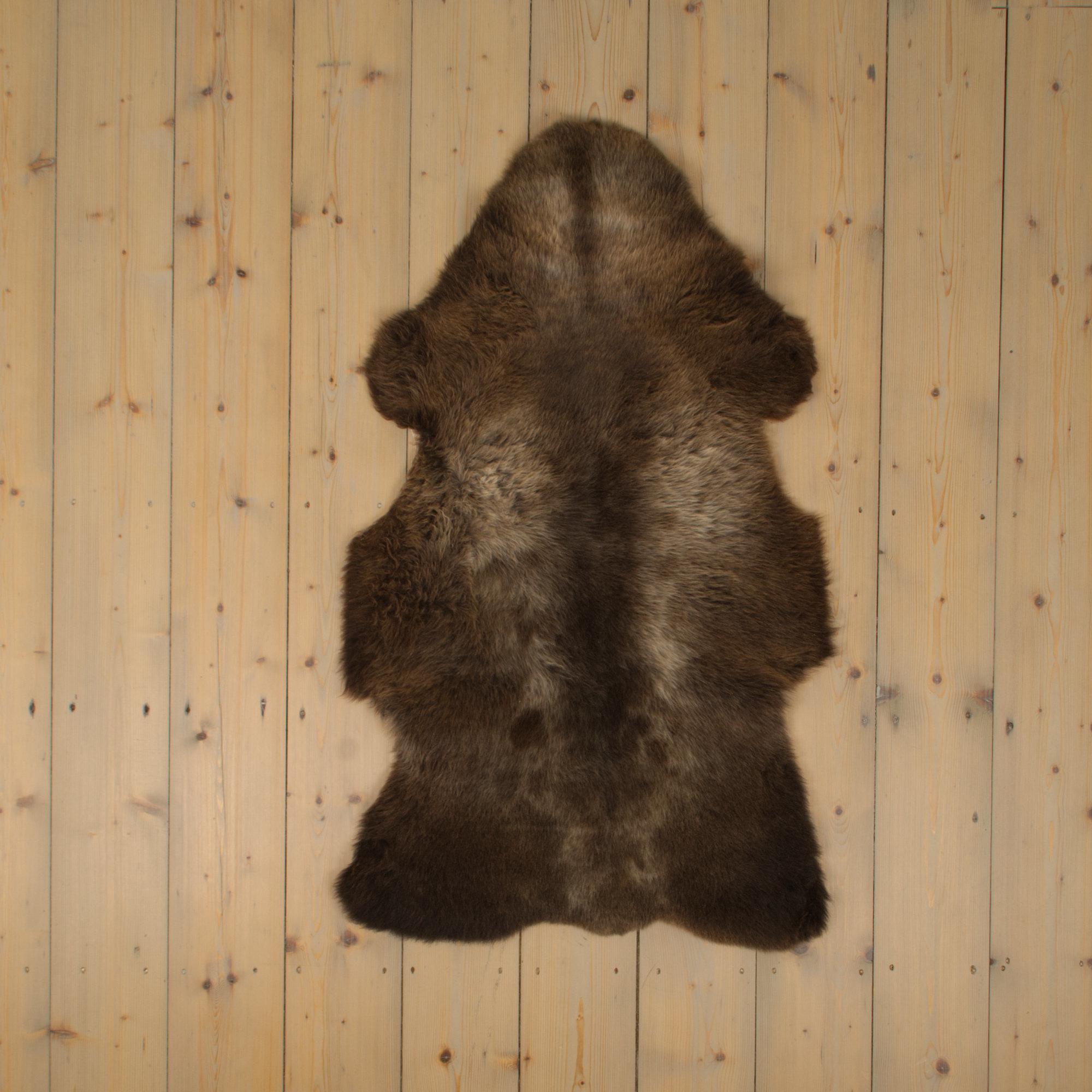Van Buren Blauwe Texelaar Schapenvacht - Bruin - Uniek Gefotografeerd - ca. 110x65cm - US020