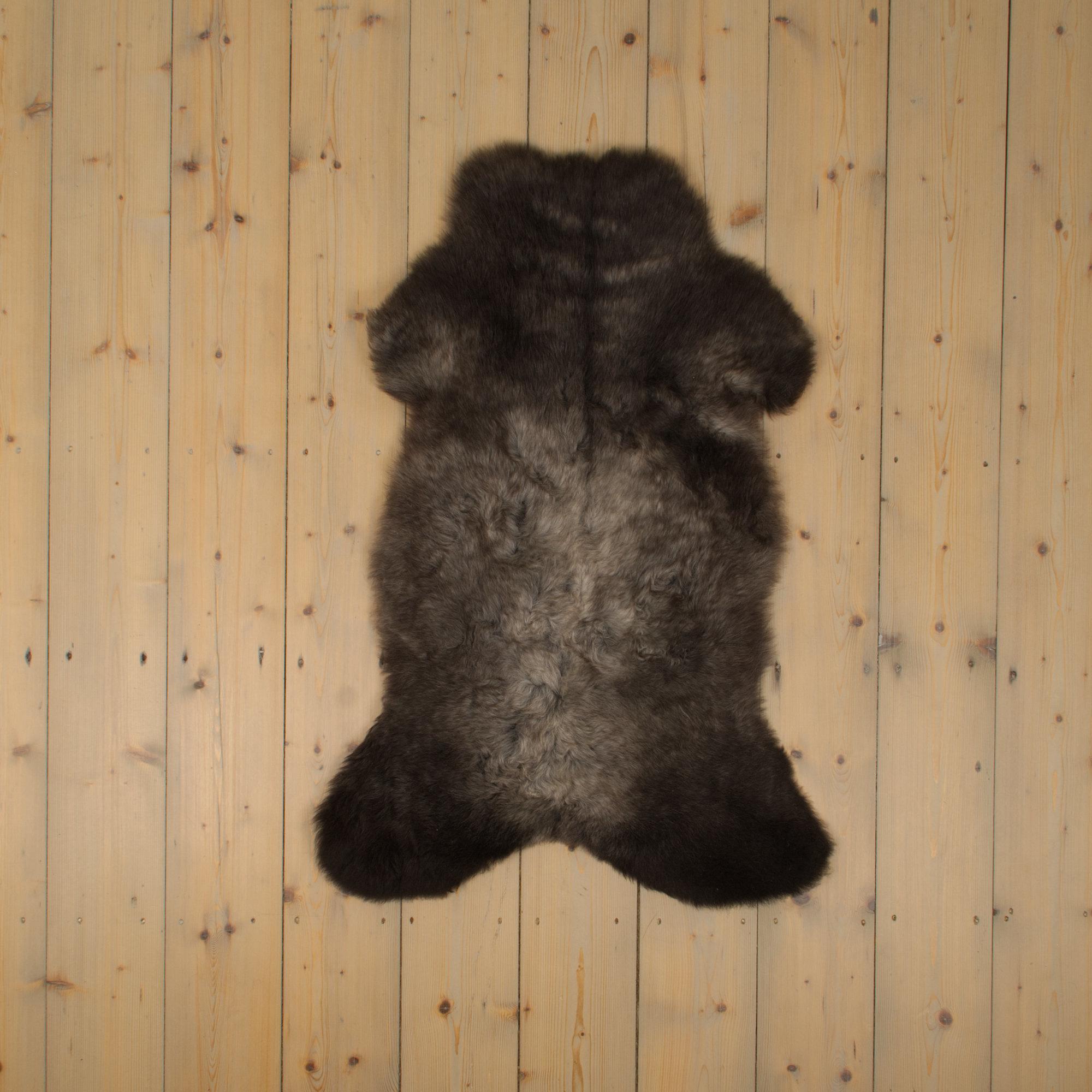 Van Buren Blauwe Texelaar Schapenvacht - Grijs - Uniek Gefotografeerd - ca. 95x55cm - US017