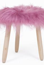 Schapenvacht krukje - Roze