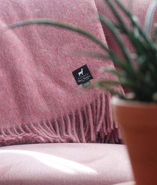 Van Buren Alpaca plaid - Roze
