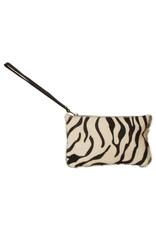 Van Buren Koeienhuid clutch - Zebraprint | Lederen avondtasje