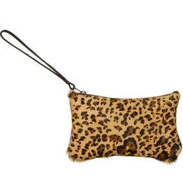 Van Buren Koeienhuid clutch - Panterprint | Lederen avondtasje
