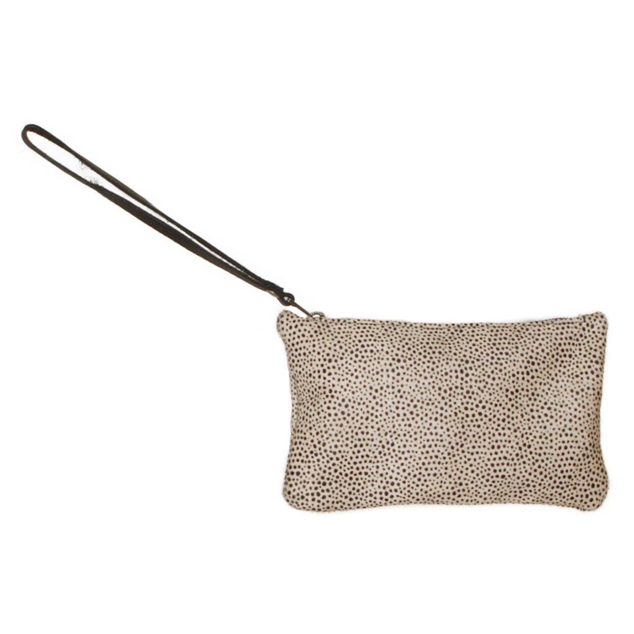 testVan Buren Koeienhuid clutch - Mini dalmatiër | Lederen avondtasje