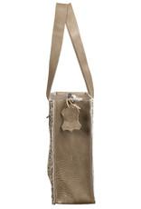 Van Buren Koeienhuid handtas - Zand/mini dalmatiër print | Lederen handtas
