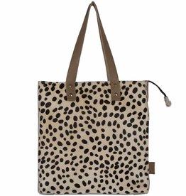 Van Buren Koeienhuid shopper - Zand/dalmatiër print | Lederen shopper