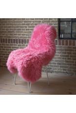 Van Buren Schapenvacht fuchsia / roze Texels