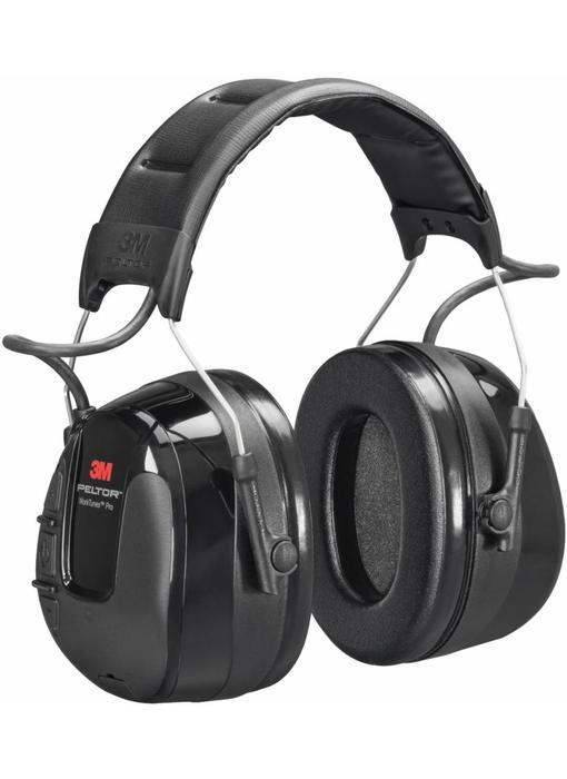 Peltor gehoorbescherming met ingebouwde radio en aux-aansluiting