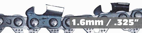 Stihl 1.6mm .325 zaagkettingen en zaagbladen