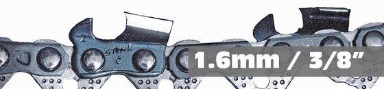 Stihl 1.6mm 3/8 zaagkettingen en zaagbladen