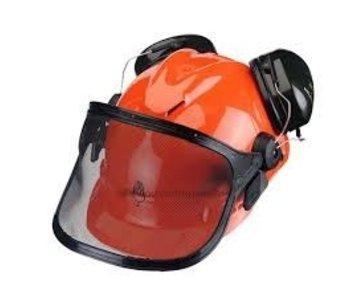 Peltor veiligheidshelm met ingebouwde Optime 2 gehoorkappen en vizier