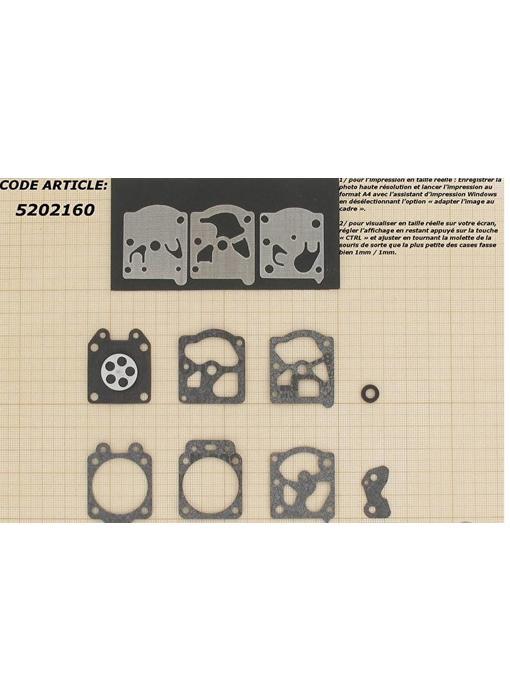 Membraanset voor Walbro carburateur - vervangnummer D20-WA, WT