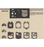 Membraanset voor Walbro carburateur - vervangnummer K10-WAT