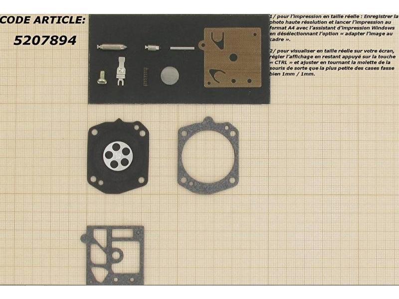 Membraanset voor Walbro carburateur - vervangnummer K10-HD - past op Stihl BR420, BR400, BR320, MS390, MS270, FS500, FS360, 046, 044, 039 en 029