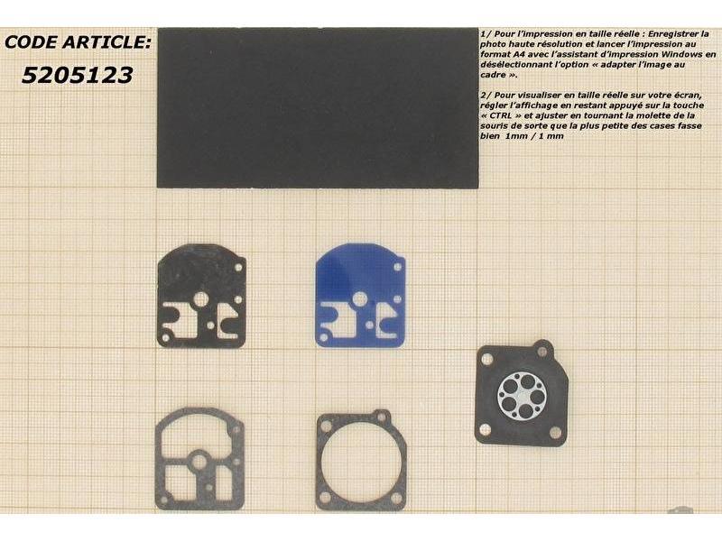 Membraanset voor Zama CS1 carburateur - vervangnummer GND7 - past op Stihl 09, 010, 011, 012, FS106, FS220, FS280, FS300