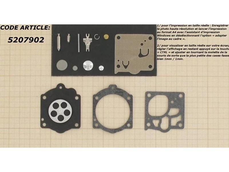 Membraanset voor Walbro carburateur - vervangnummer K15-WJ - past op Stihl 066 Magnum, 066, 064