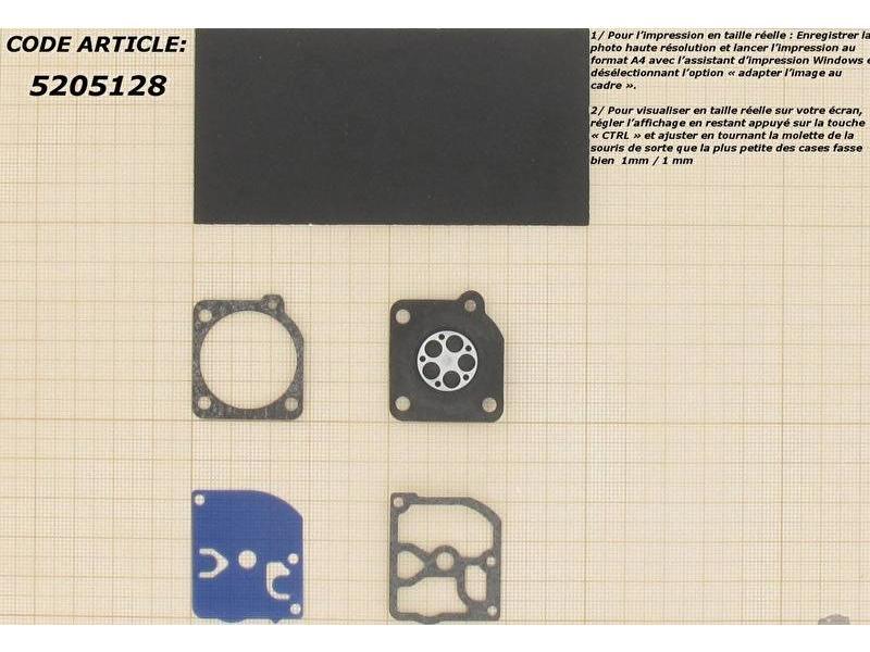 Membraanset voor Zama C1Q carburateur - vervangnummer GND29 - past op Stihl 021, 023, 025 en Dolmar 341, 342, 343, PS34, PS340, FR108