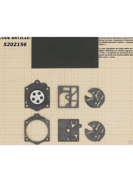 Membraanset voor Walbro carburateur - vervangnummer D1-HDC en D10-HDC - past op Stihl 015 en Solo 600, 605, 606, 616 en 631