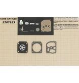 Membraanset voor Zama C3 carburateur - vervangnummer RB40 - past op Stihl FS108, FS106, FS120, FS200, FS250, FS350, FS400, FS450