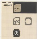 Membraanset voor Zama C1Q carburateur - vervangnummer GND28 - past op Stihl FS38, FS45, FS46, FS85, FS106, FS108, FS400, FS450 en BG75