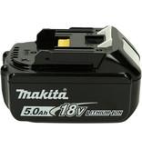 Makita DUC353Z kettingzaag met 5Ah accu, 3 zaagkettingen en 2L olie