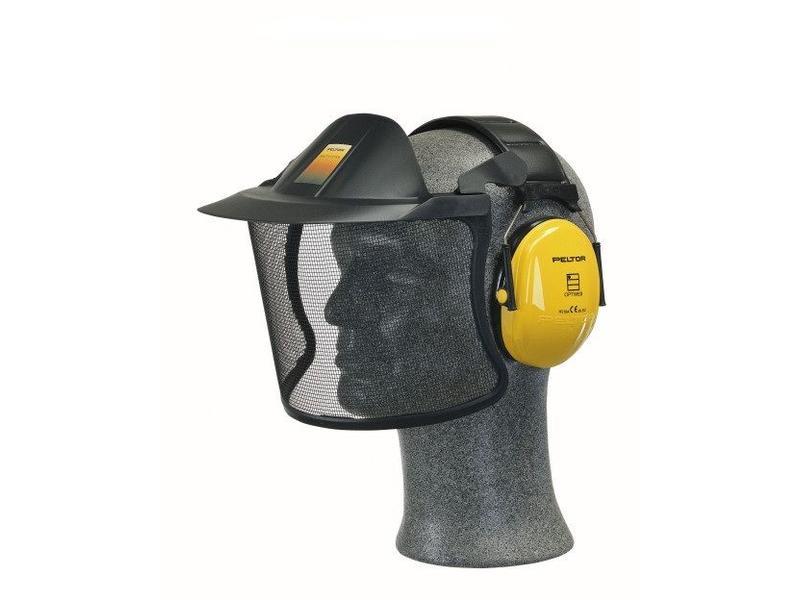 Peltor vizier met bevestiging op gehoorbeschermers V40A