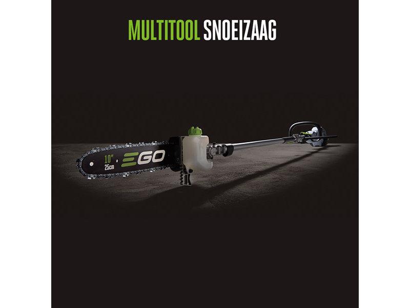 EGO EGO Multitool Kit MHSC2002E met stokheggenschaar, stokkettingzaag, trimmer, kantensnijder en accu's