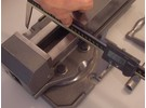 Verkauft: Hilma 84mm Maschinenschraubstock und Drehbarer Untersatz