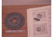 Sold: Schaublin 102 or  Schaublin 12 Dividing Attachment Perforated Disc No. 2